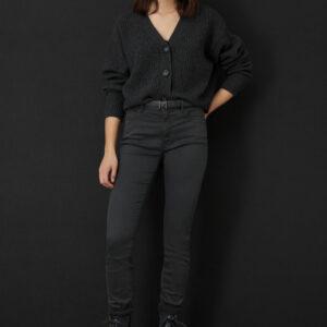 jeansy marella monochrome grafitowe malafada