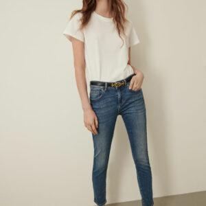 jeansy skinny niebieskie marella