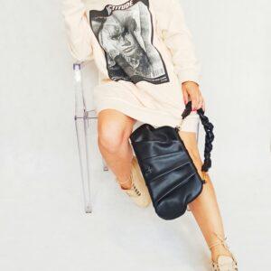 Bluza z nadrukiem maxi twinset
