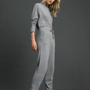 Spodnie z węłny i kaszmiru szare twinset